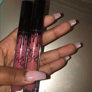 Kylie lip sticks matte and also Vs lip gloss